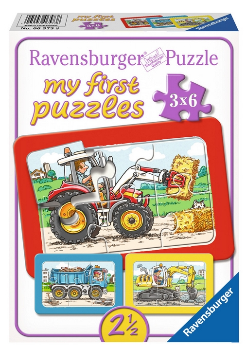 ravensburger-3-puzzles-my-first-puzzle-bagger-traktor-und-kipplader-6-teile-puzzle-ravensburger