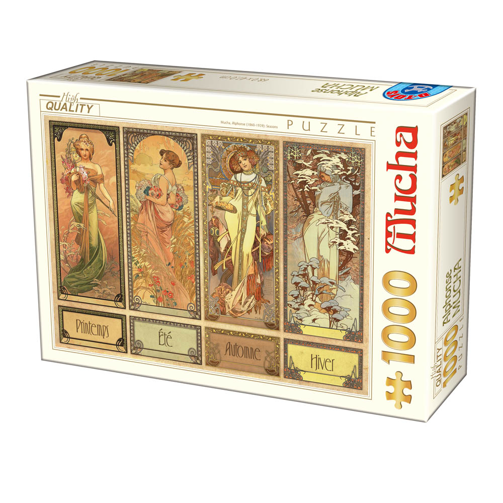 dtoys-mucha-alfons-seasons-1000-teile-puzzle-dtoys-75901