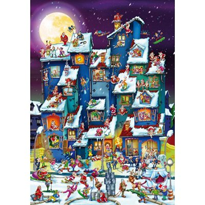 dtoys-cartoon-collection-weihnachtsrummel-1000-teile-puzzle-dtoys-70869