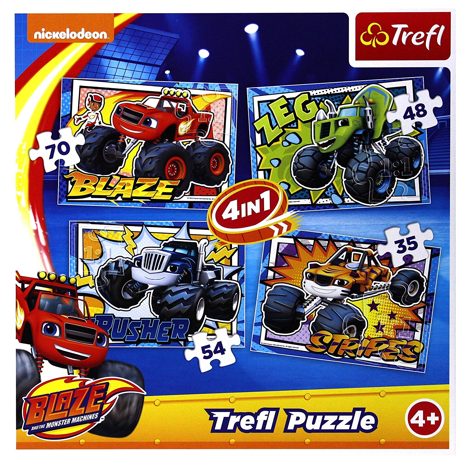 4 Puzzles - Blaze and the Monster Machines