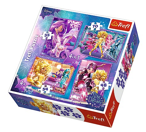 trefl-4-puzzles-star-darlings-35-teile-puzzle-trefl-34275