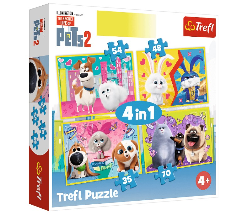 trefl-4-puzzles-the-secret-life-of-pets-2-35-teile-puzzle-trefl-34319