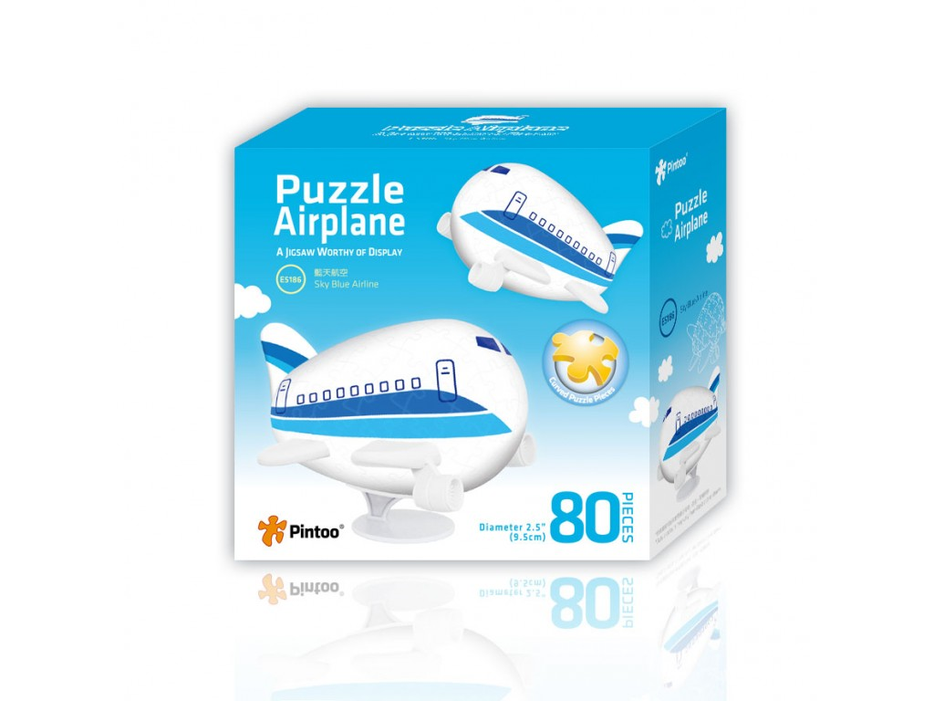 pintoo-3d-airplane-puzzle-sky-blue-airline-80-teile-puzzle-pintoo-e5186