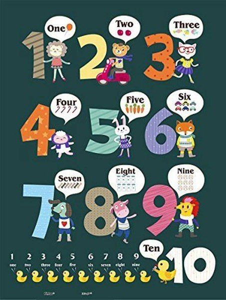 Pintoo Puzzle aus Kunststoff - Learning To Count 48 Teile Puzzle Pintoo-T1025