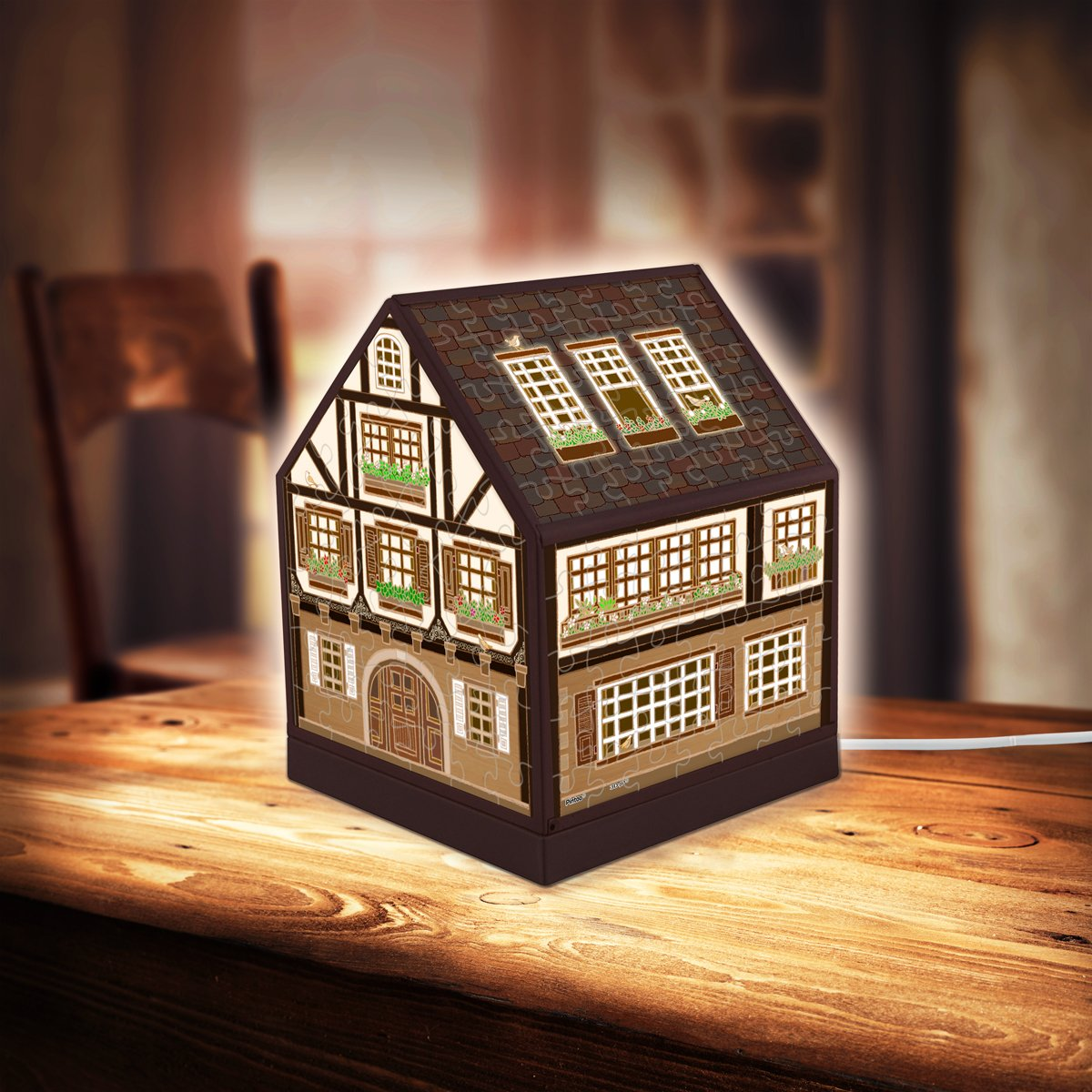 pintoo-3d-puzzle-house-lantern-half-timbered-house-208-teile-puzzle-pintoo-r1006