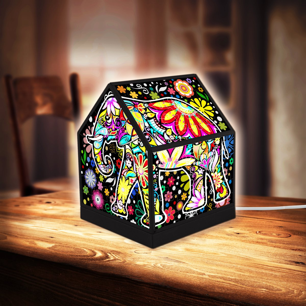 pintoo-3d-puzzle-house-lantern-cheerful-elephants-208-teile-puzzle-pintoo-r1007