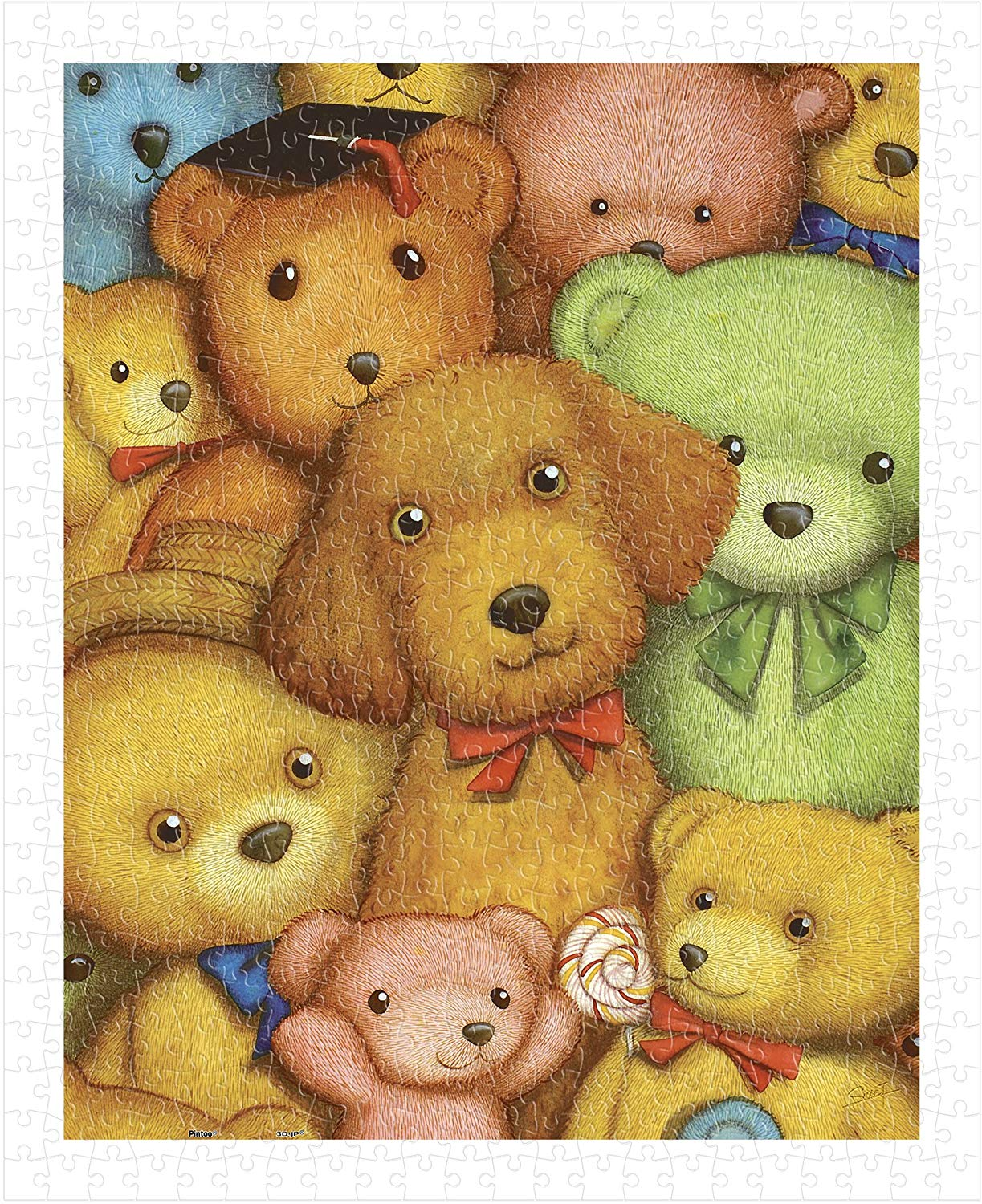pintoo-puzzle-aus-kunststoff-smart-poodle-and-teddy-bears-500-teile-puzzle-pintoo-h1124