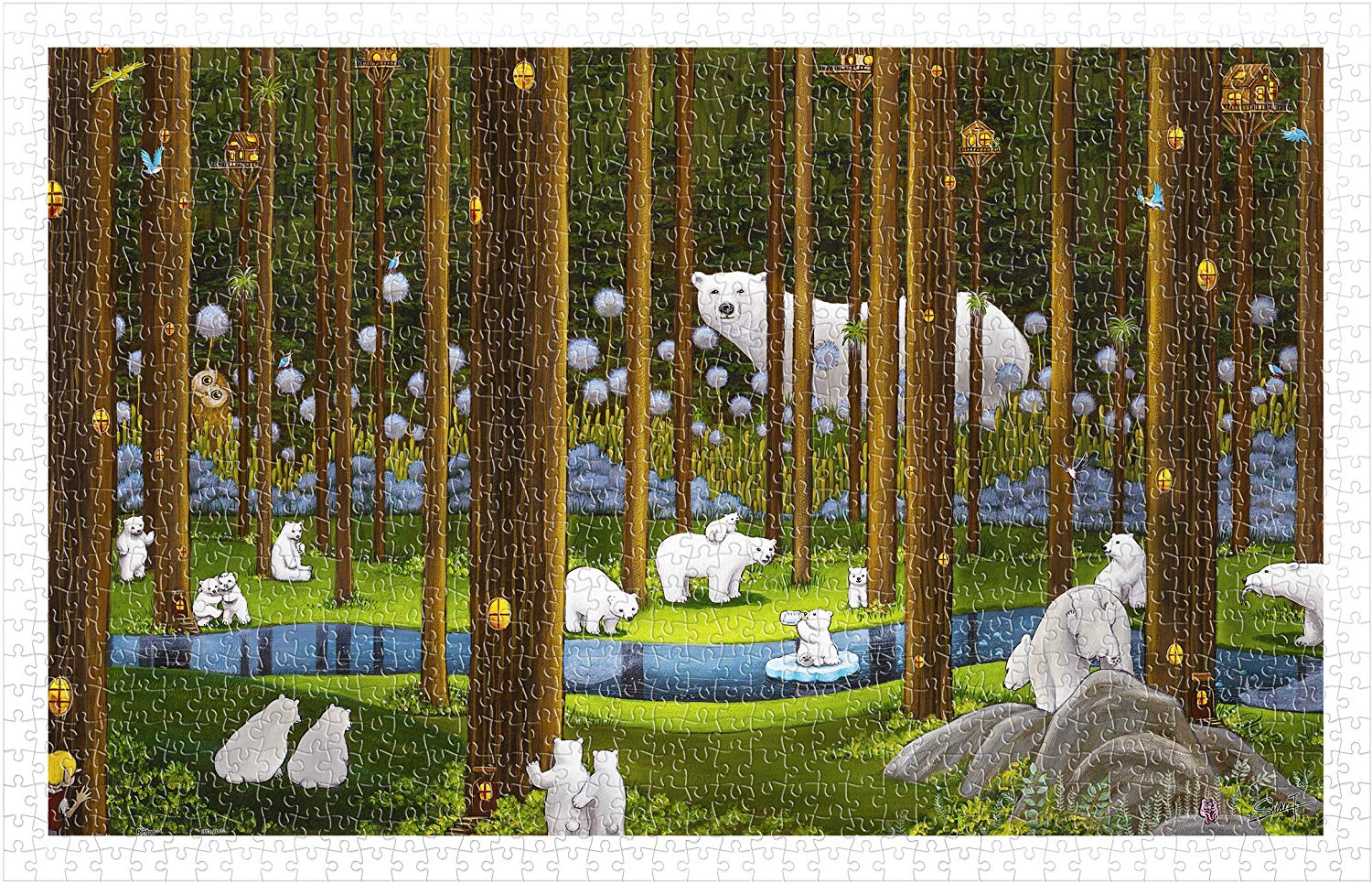 pintoo-puzzle-aus-kunststoff-smart-polar-bears-in-the-forest-1000-teile-puzzle-pintoo-h2075
