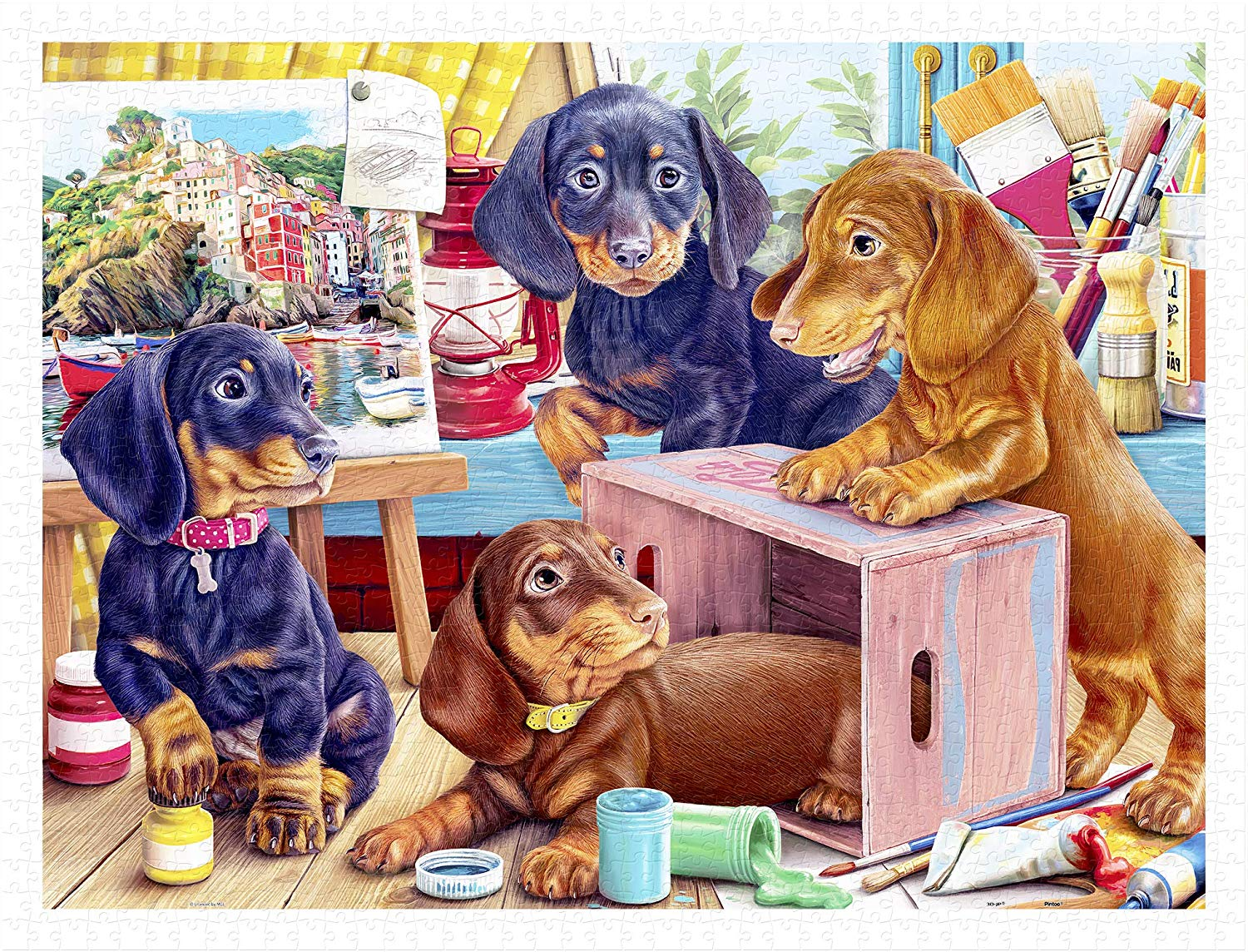 pintoo-puzzle-aus-kunststoff-puppies-in-the-studio-1200-teile-puzzle-pintoo-h2087
