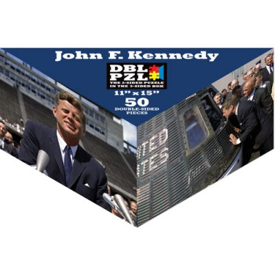 Pigment & Hue, INC Beidseitiges Puzzle - John F. Kennedy 50 Teile Puzzle Pigment-and-Hue-DBLJFK-00904
