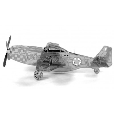 Metal-Earth-MMS003 3D Puzzle aus Metall - Mustang P-51