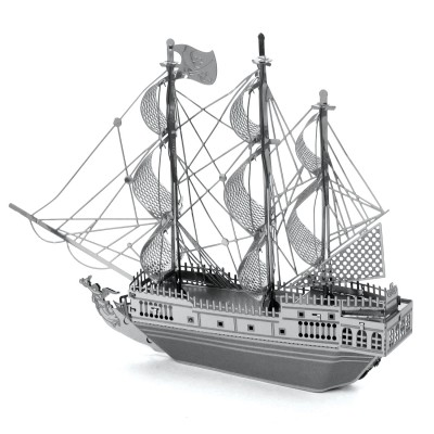 Metal-Earth-MMS012 3D Puzzle aus Metall - Piratenschiff Black Pearl
