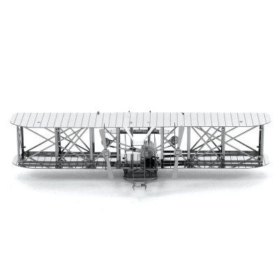 Metal-Earth-MMS042 3D Puzzle aus Metall - Wright Brothers Airplane