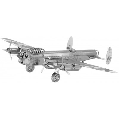Metal-Earth-MMS067 3D Puzzle aus Metall - Avro Lancaster Bomber