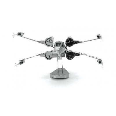 Metal-Earth-MMS257 3D Puzzle aus Metall - Star Wars: X-Wing Star Fighter