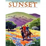 Puzzle  New-York-Puzzle-SU2006 XXL Teile - Sunset - Horses in The Hills