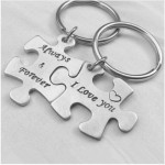 Puzzle  Key-004 Schlüsselanhänger - Always & Forever / I Love You