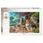 Puzzle  Step-Puzzle-83054 Tigers