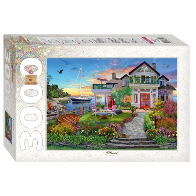 Puzzle Step-Puzzle-85021 House by the bay