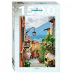 Puzzle   Street view in Bellagio and lake Como, Italy