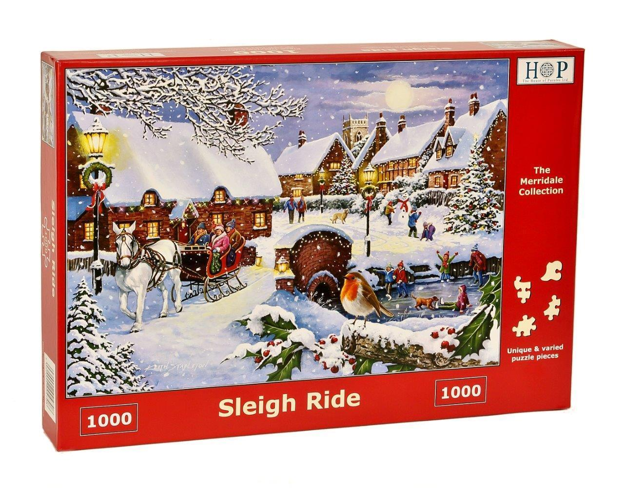 Sleigh Ride - 1000 Teile - THE HOUSE OF PUZZLES Puzzle online kaufen
