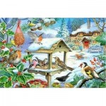 Puzzle  The-House-of-Puzzles-1400 XXL Teile - Feed The Birds