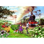 Puzzle  The-House-of-Puzzles-1615 XXL Teile - Railway Children