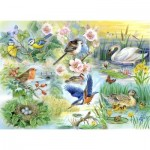 Puzzle  The-House-of-Puzzles-1899 XXL Teile - Feathered Friends