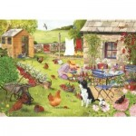 Puzzle  The-House-of-Puzzles-2759 XXL Teile - Grandma's Garden