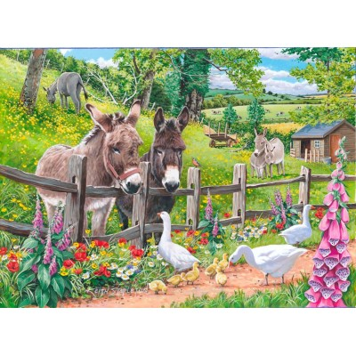 Puzzle The-House-of-Puzzles-4128 XXL Teile - Jack & Jenny