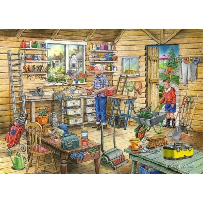 Puzzle The-House-of-Puzzles-4500 Find the Differences No.14 - Fred's Shed