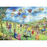 Puzzle   XXL Teile - Darley Collection - Let's Go Fly a Kite