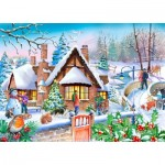 Puzzle   XXL Teile - Darley Collection - Snowy Cottage