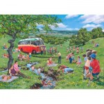 Puzzle   XXL Teile - Darley Collection - Sunday Picnic