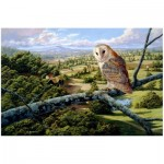 Holzpuzzle - Barn Owl