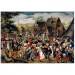 Holzpuzzle - Brueghel - The Village Festival