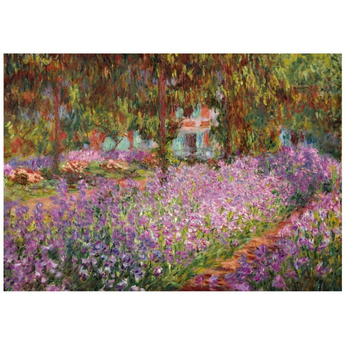 Holzpuzzle - Claude Monet - The artist's garden in Giverny