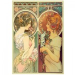 Wentworth-780804 Holzpuzzle - Mucha Alfons - Feather & Cowslip