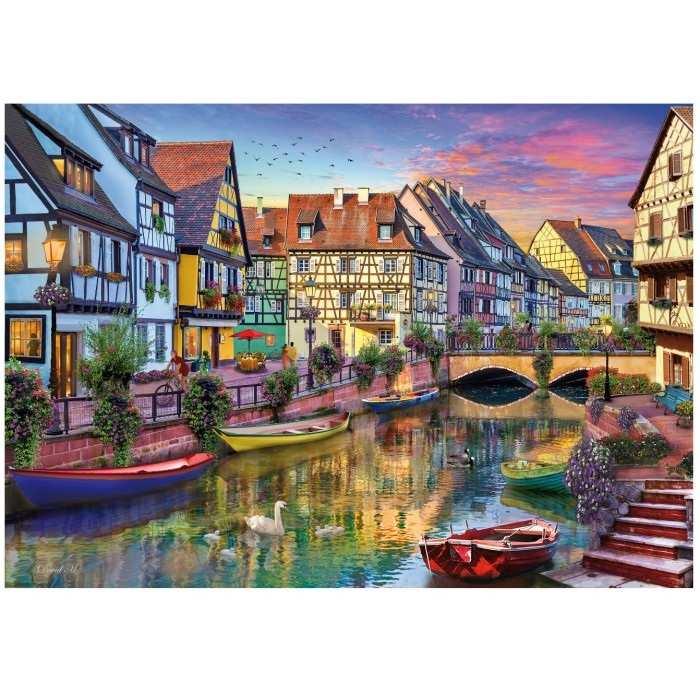 Holzpuzzle - Colmar Canal