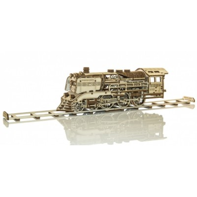 Wooden-City-WR321-8381 3D Holzpuzzle - Wooden Express + Rails